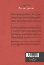 Verso de (AUT) Pratt, Hugo -Roman- Cour des mystères