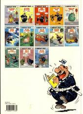 Verso de L'agent 212 -7a1992- Un flic à l'ombre