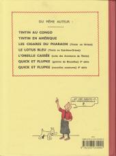 Verso de Tintin (Fac-similé N&B) -7PF- L'île noire