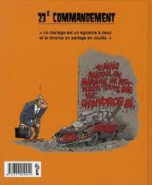 Verso de Les 40 commandements - Les 40 commandements du divorce