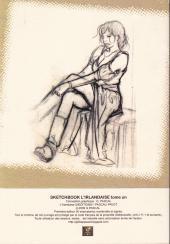 Verso de L'irlandaise -SB1- Sketch book - tome 1