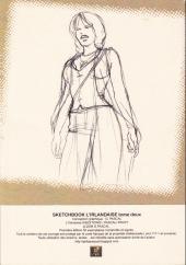 Verso de L'irlandaise -SB2- Sketch book - tome 2