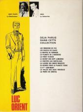 Verso de Luc Orient -6a- Le secret des 7 lumières