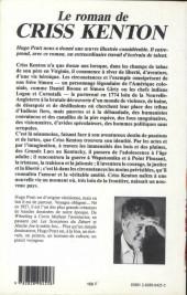 Verso de (AUT) Pratt, Hugo -Roman- Le roman de Criss Kenton