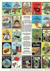 Verso de Tintin (Historique) -17C5- On a marché sur la lune