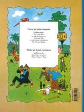 Verso de Tintin (en langues régionales) -5Réunionnai- Flèr Lotus Bleu