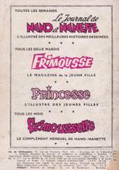 Verso de Frimousse et Frimousse-Capucine -181- Rodéo à gogo