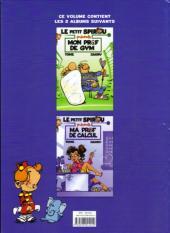 Verso de Le petit Spirou présente... -FLD01- Mon prof de gym / Ma prof de calcul