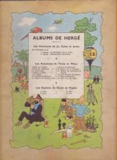 Verso de Tintin (Historique) -15B05- Au pays de l'or noir