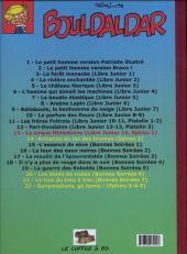 Verso de Bouldaldar et Colégram -13- Le cirque Minestrone, suivi de Printemps en forêt (Libre Junior 14 et Spirou 1)