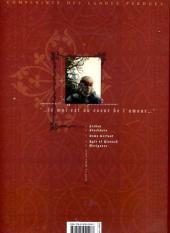 Verso de Complainte des Landes perdues -3a- Dame Gerfaut
