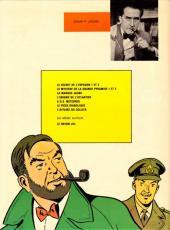 Verso de Blake et Mortimer (Historique) -1b74- Le Secret de l'Espadon - Tome I - La Poursuite fantastique