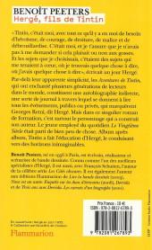 Verso de (AUT) Hergé -4b- Hergé, fils de Tintin