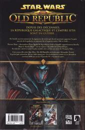 Verso de Star Wars - The Old Republic (Delcourt) -2- Soleils perdus