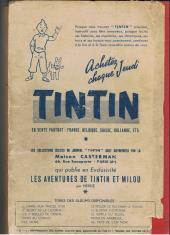 Verso de (Recueil) Tintin (Album du journal - Édition française) -8- Tintin album du journal (n° 120 à 136)