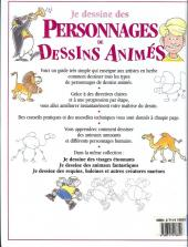 Verso de (DOC) Techniques de dessin et de création de BD - Je dessine des personnages de dessins animés