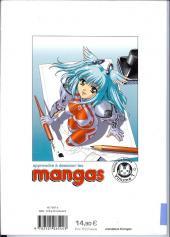 Verso de (DOC) Le Dessin de Manga -1- Apprendre à dessiner les mangas - les personnages