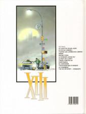 Verso de XIII -13- The XIII mystery - L'enquête