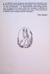 Verso de (AUT) Manara - Confidences d'un homme-crayon
