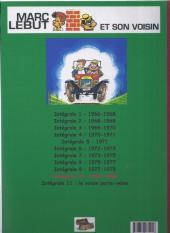 Verso de Marc Lebut et son voisin -Int10- Intégrale 10: 1980-1983