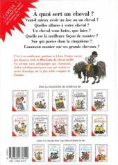 Verso de Le mini-guide -20- Le mini-guide du Cheval