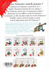 Verso de Le mini-guide -3a- Le mini-guide des Gémeaux