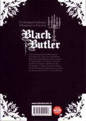 Verso de Black Butler -9- Black Chief Clerk