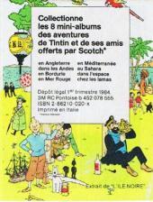 Verso de Tintin - Publicités -7Sco1- Tintin en Angleterre