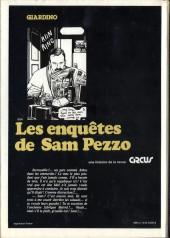 Verso de Sam Pezzo (Les enquêtes de) -2- Tome 2