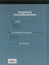 Verso de Complainte des Landes perdues -1c2008- Sioban