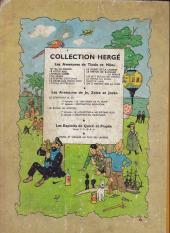Verso de Tintin (Historique) -14B12- Le temple du soleil