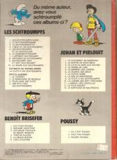 Verso de Les schtroumpfs -1b75- Les schtroumpfs noirs