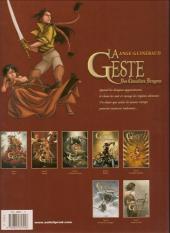 Verso de La geste des Chevaliers Dragons -3a- Le pays de non-vie