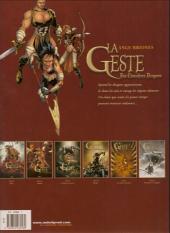 Verso de La geste des Chevaliers Dragons -4a- Brisken