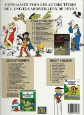 Verso de Johan et Pirlouit -14Or'- La horde du corbeau