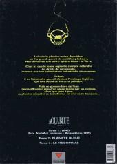 Verso de Aquablue -2a- Planète bleue
