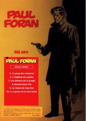 Verso de Paul Foran (édition pirate) -5- Le gang des vampires