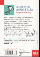 Verso de Le petit Nicolas -10 - Les surprises du Petit Nicolas
