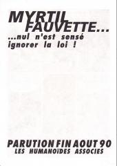 Verso de Myrtil Fauvette -1Pub- Paroles de diable...
