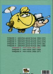 Verso de Le flagada -INT6- Intégrale 6 : 1961-1967 mini-récits