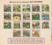 Verso de Astérix (Elf) -17- Astérix sème la tempête
