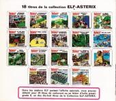 Verso de Astérix (Elf) -4- Astérix ...cuisinier !