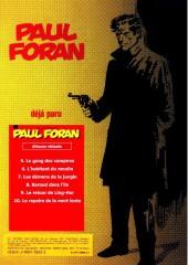 Verso de Paul Foran (édition pirate) -10- Le repaire de la mort lente