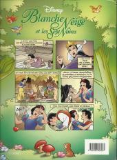 Verso de Les classiques du dessin animé en bande dessinée -5- Blanche Neige et les Sept Nains