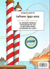 Verso de Lefranc -160 Ans-  la grande menace