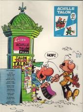 Verso de Achille Talon -1a74- Les idées d'Achille Talon cerveau-choc !