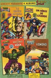 Verso de Captain America (1re série - Aredit - Artima Color Marvel Super Star) -1- Un héros de légende