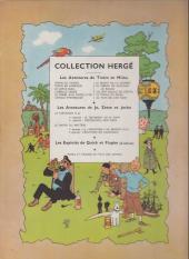 Verso de Tintin (Historique) -15B07bis- Au pays de l'or noir