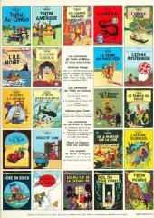 Verso de Tintin (Historique) -14C2- Le temple du soleil