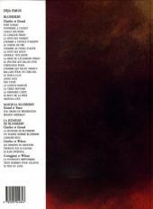 Verso de Blueberry (La Jeunesse de) -1c1995- La Jeunesse de Blueberry